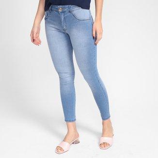 Calça Jeans Skinny Biotipo Midi Cintura Média Feminina