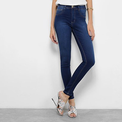 50b1d2f7d Calça Jeans Skinny Biotipo Soft Melissa Estonada Cintura Média Feminina- Feminino