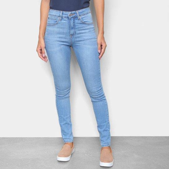 Calça Jeans Skinny Calvin Klein Cintura Alta Feminina - Azul Claro