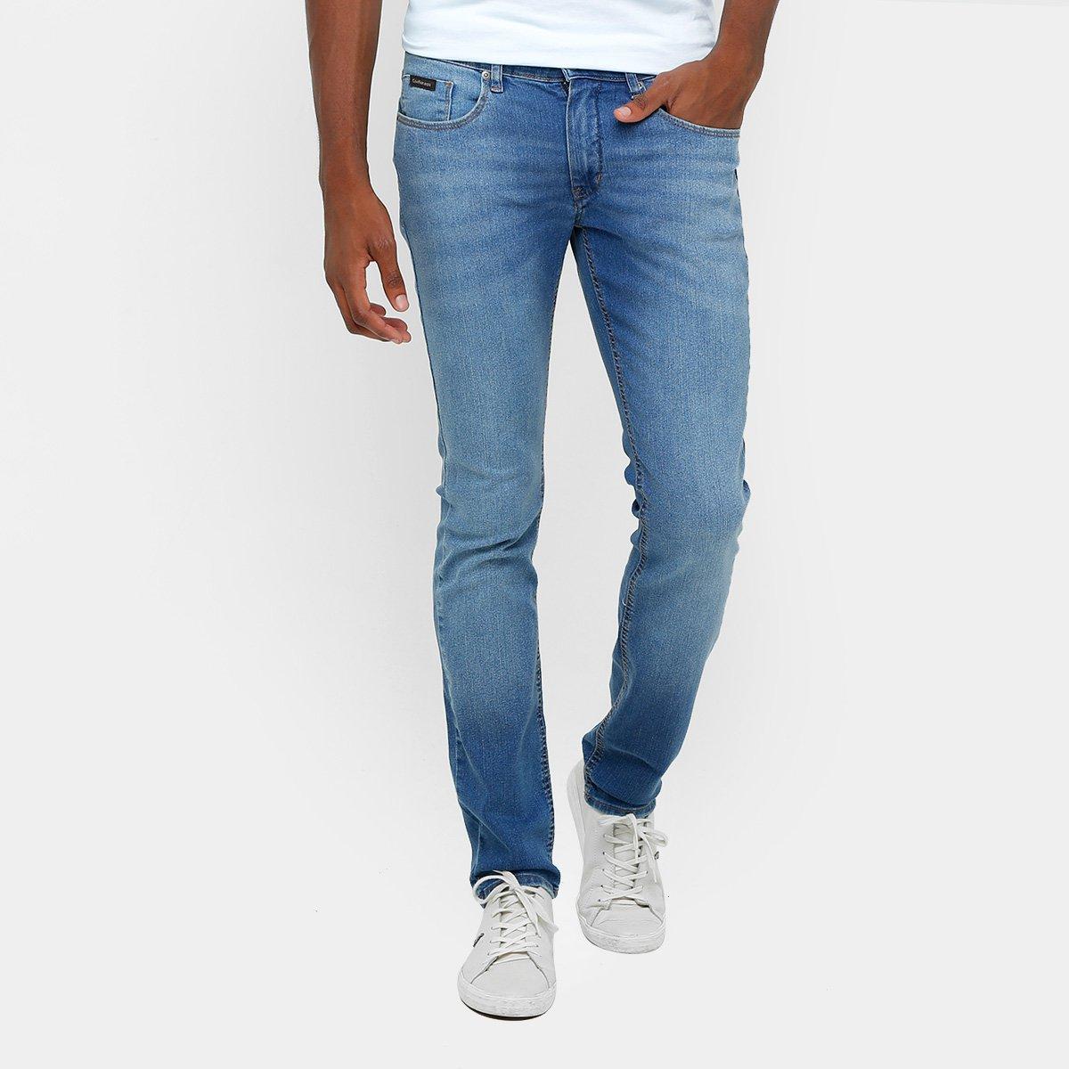 Calça Jeans Skinny Calvin Klein Estonada Elastano Masculina - Compre ... 12fc73d500