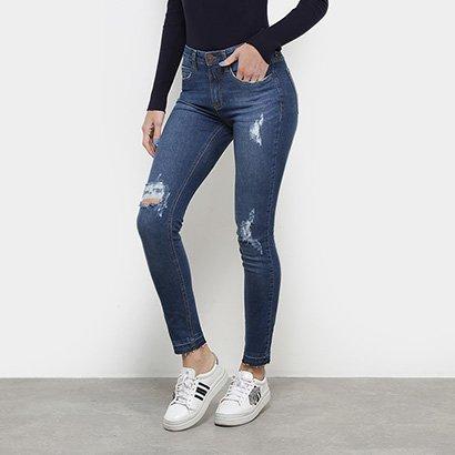 Calça Jeans Skinny Calvin Klein Mid Rise Feminina