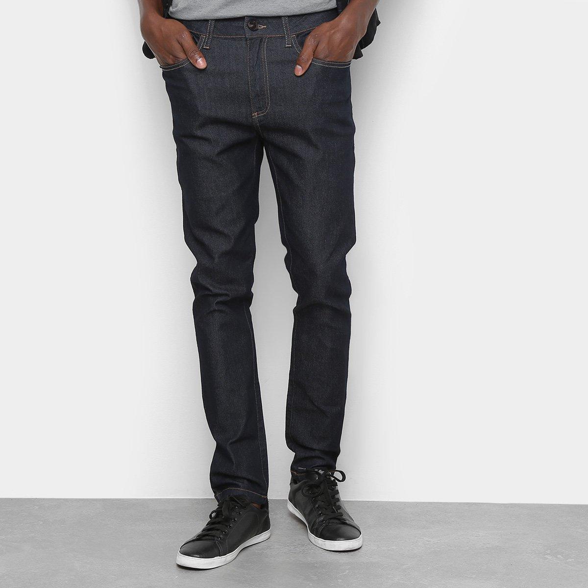 Menor preço em Calça Jeans Skinny Cavalera Lavagem Escura Cintura Média Masculina - Azul Escuro