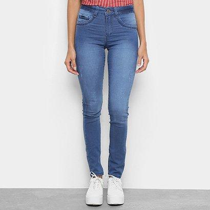 Calça Jeans Skinny Chocomenta Cintura Média Feminina-Feminino