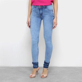 Calça Jeans Skinny Coffee Cintura Média Feminina