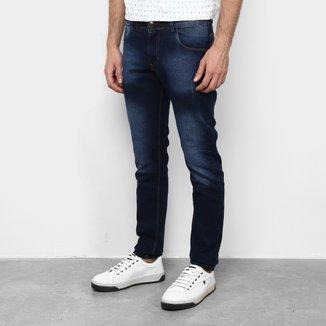 Calça Jeans Skinny Coffee Detalhe Masculina