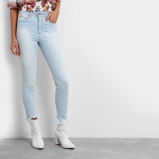 Calça Jeans Skinny Colcci Barra Desfiada Cintura Alta Feminina