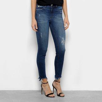 Calça Jeans Skinny Colcci Cintura Média Feminina