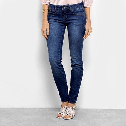 33bbbb882 Calça Jeans Skinny Colcci Estonada Cintura Baixa Feminina - Azul - Compre  Agora