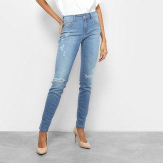 Calça Jeans Skinny Colcci Fátima Cintura Média Feminina