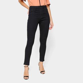 Calça Jeans Skinny Ecxo Cintura Alta Feminina