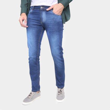 Calça Jeans Skinny Ecxo Cintura Média Masculina