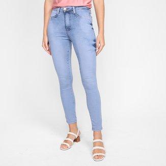 Calça Jeans Skinny Ecxo Estonada Feminina