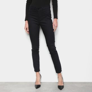 Calça Jeans Skinny Ecxo Lisa Cintura Média Feminina