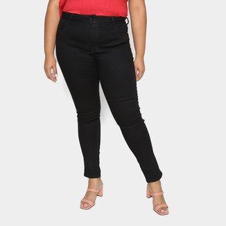 Calça Jeans Skinny Ecxo Plus Size Feminina