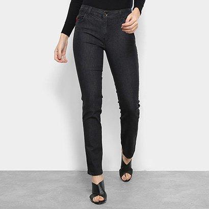 Calça Jeans Skinny Ellus Black Filigrana Cintura Média Feminina-Feminino 465766a94b7