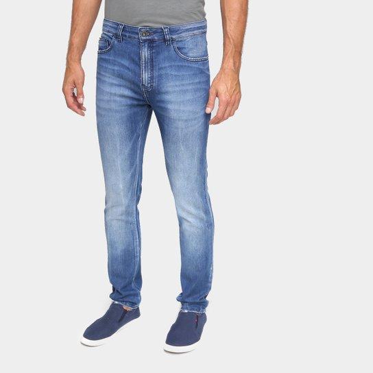 Calça Jeans Skinny Ellus Estonada Masculina - Azul