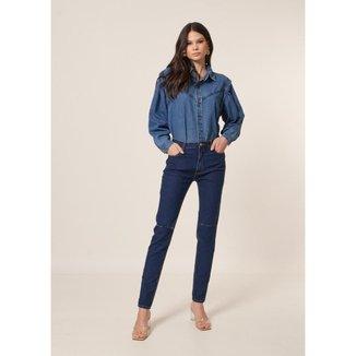Calça Jeans Skinny Estiletado Amaciado   Feminina
