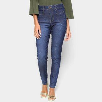 Calça Jeans Skinny Exco Básica Cintura Alta Feminina