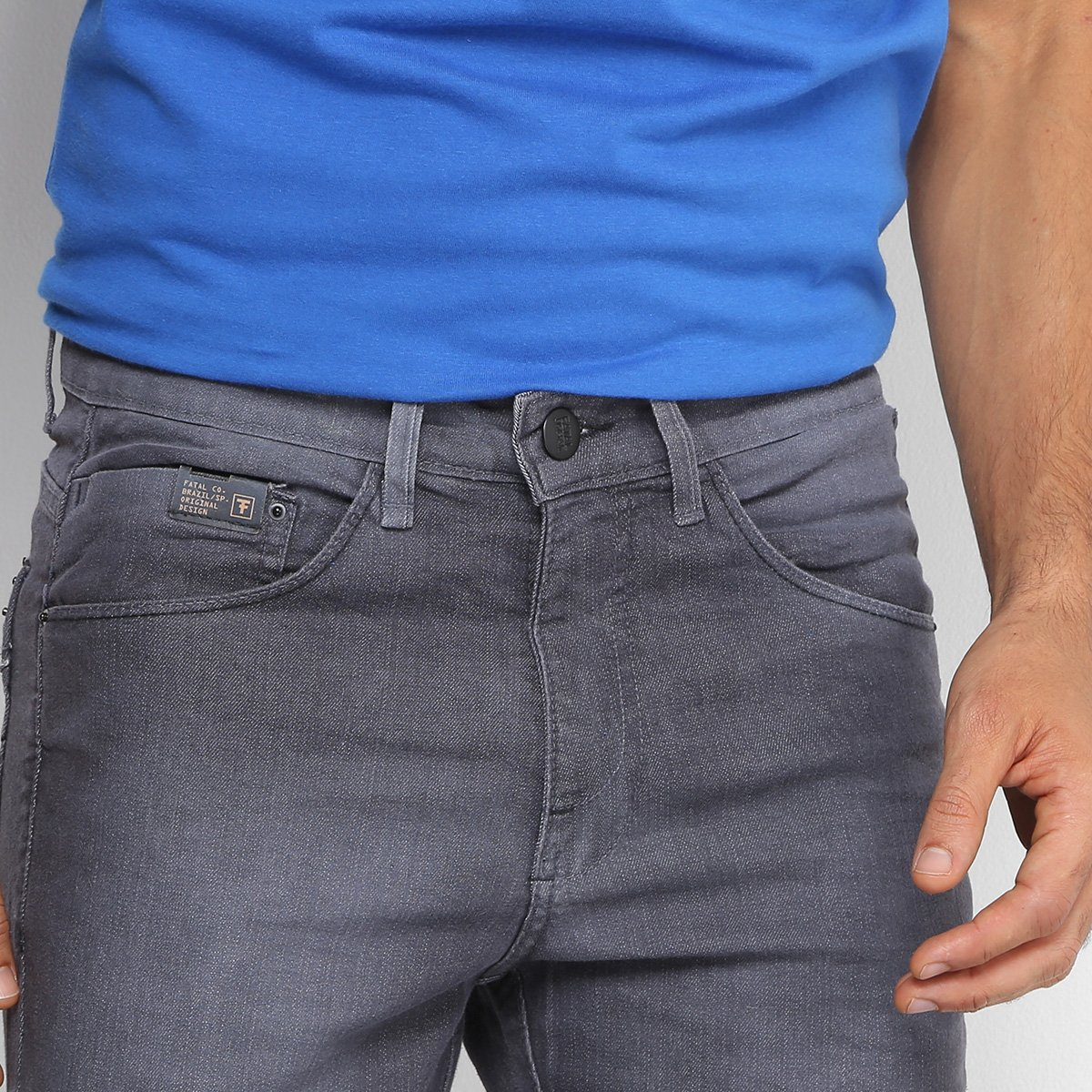 8f0439d9b Calça Jeans Skinny Fatal Estonada Masculina - Compre Agora