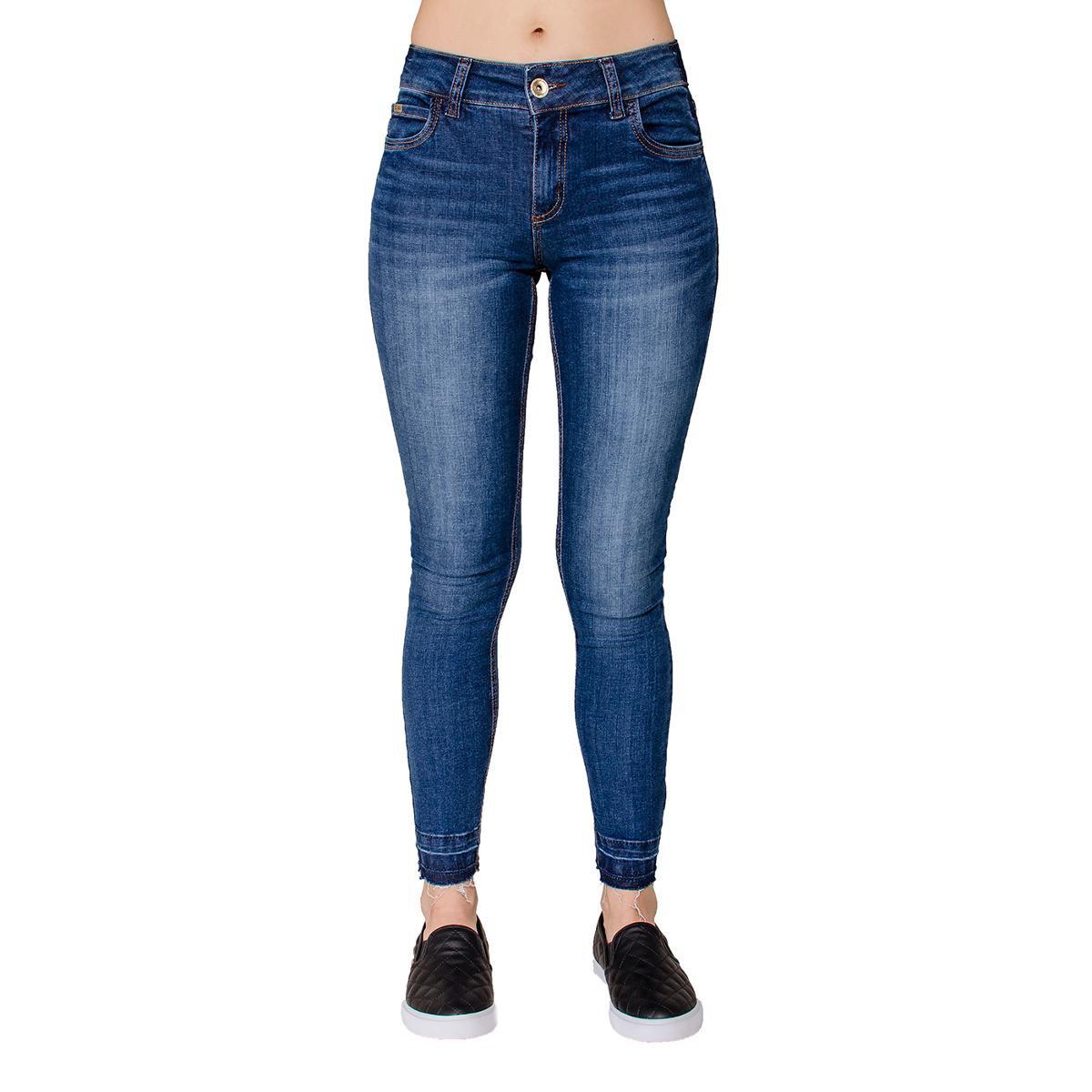 a76730251 Calça Jeans Skinny Fátima Barra Desfeita Colcci - Azul - Compre Agora |  Zattini