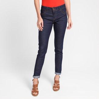 Calça Jeans Skinny Grifle Cintura Baixa Feminina