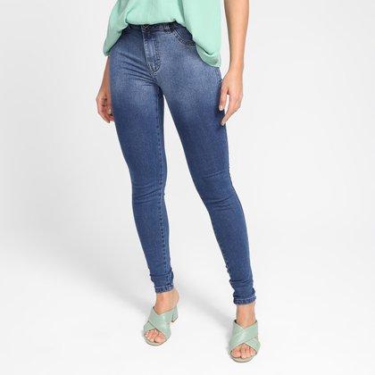 Calça Jeans Skinny Grifle Estonada Feminina