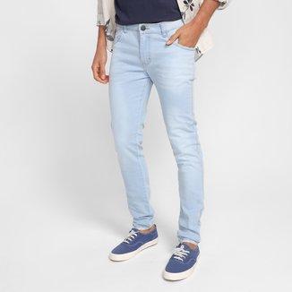 Calça Jeans Skinny Grifle Estonada Masculina