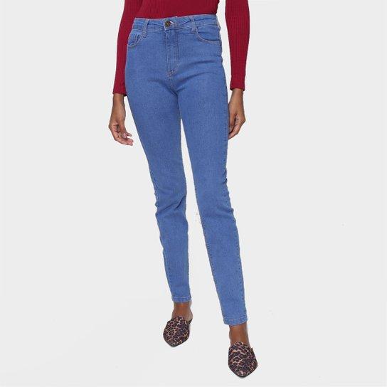 Calça Jeans Skinny Hering Básica Cintura Média Feminina - Azul Claro