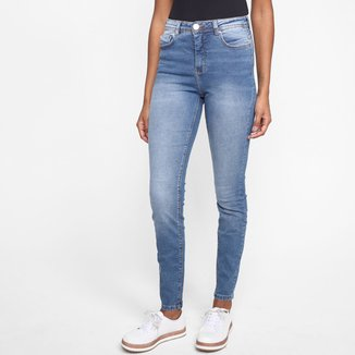 Calça Jeans Skinny Hering Cintura Média Feminina
