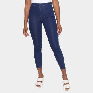 Calça Jeans Skinny Hering Lisa Cintura Média Feminina