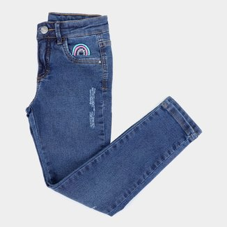 Calça Jeans Skinny Infantil Malwee Feminina