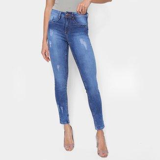 Calça Jeans Skinny Just Denim Puídos Feminina