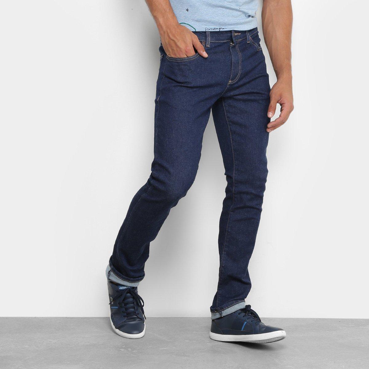 a70eec9e6c4f0 Calça Jeans Skinny Lacoste Lavagem Escura Masculina - Compre Agora ...