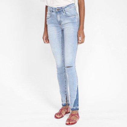 Calça Jeans Skinny Lança Perfume High Alongada Feminina