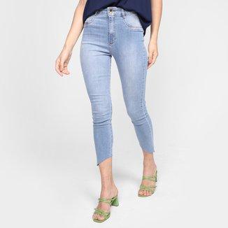 Calça Jeans Skinny Lança Perfume Super High Ankle Cintura Alta Feminina