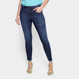 Calça Jeans Skinny Oh,Boy! Barra Desfiada Cintura Média Feminina