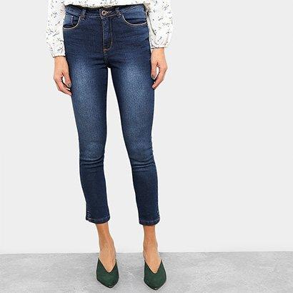 Calça Jeans Skinny Razon Cintura Média Abertura Barra Feminina-Feminino