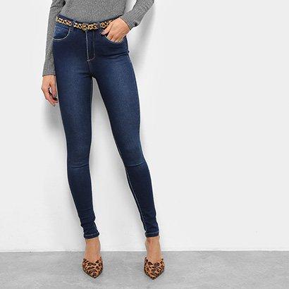 Calça Jeans Skinny Razon Cintura Média Com Cinto Feminina-Feminino