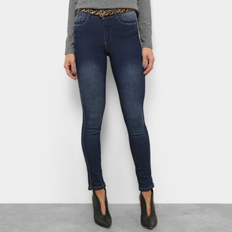 Calça Jeans Skinny Razon Cintura Média com Cinto Feminina