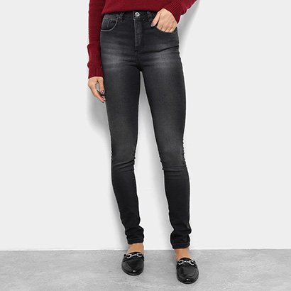 Calça Jeans Skinny Razon Estonada Cintura Média Feminina-Feminino