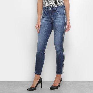 Calça Jeans Skinny Razon Estonada Faixa Lateral Feminina