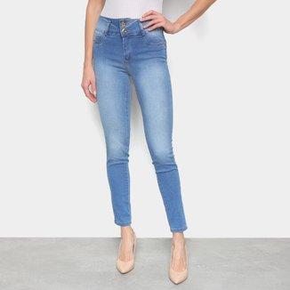 Calça Jeans Skinny Sawary Cigarrete Heart Clara Cintura Média Feminina