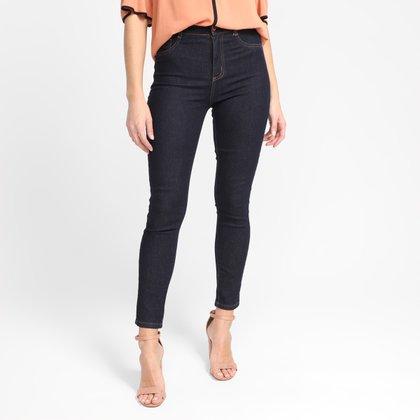 Calça Jeans Skinny Sawary Cintura Alta Feminina