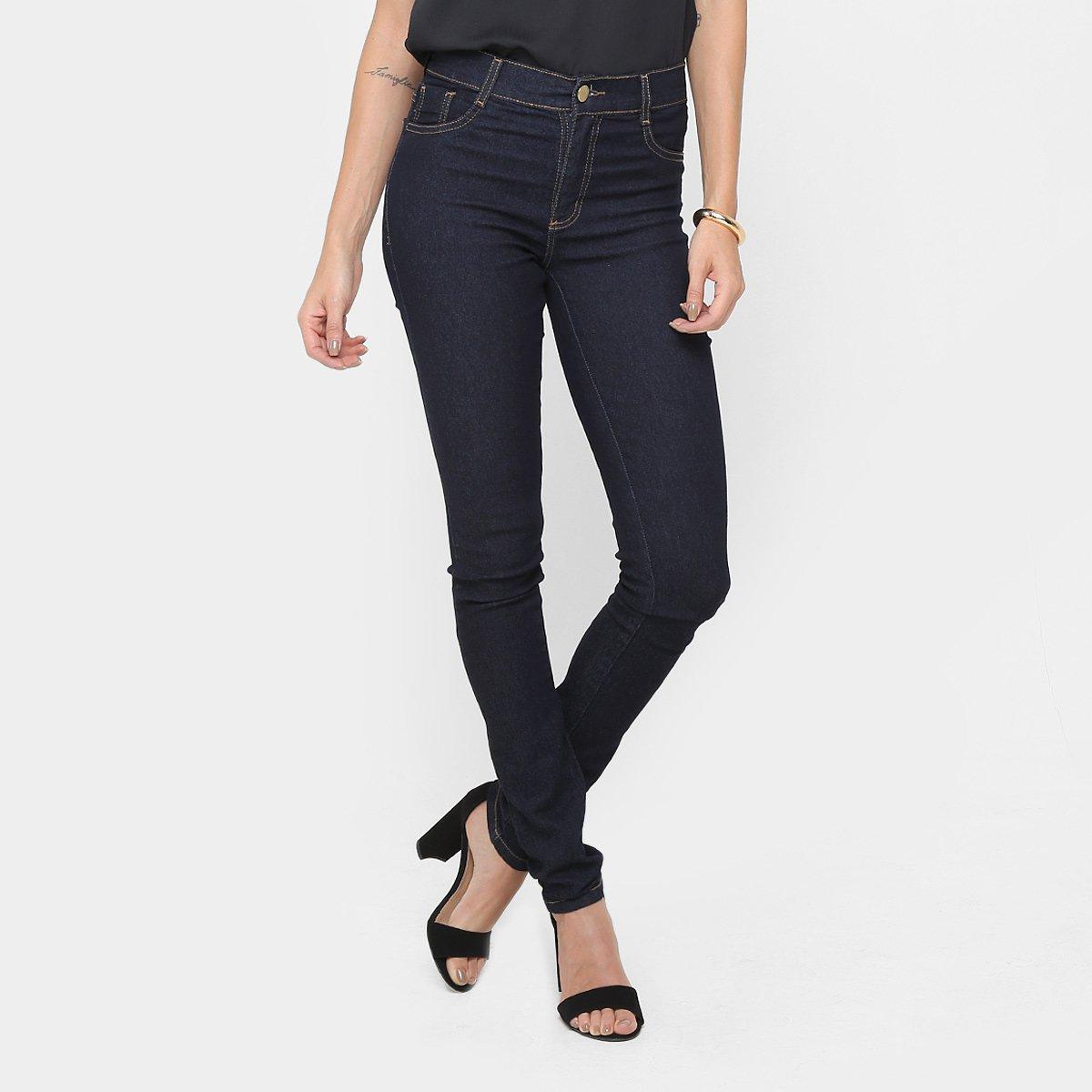 f404f6b12c Calça Jeans Skinny Sawary Cintura Alta Lavagem Escura - Compre Agora ...
