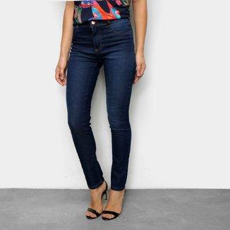 Calça Jeans Skinny Sawary Cintura Média Feminina