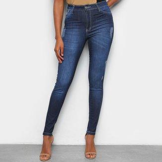Calça Jeans Skinny TKS Clássica Cintura Alta Feminina
