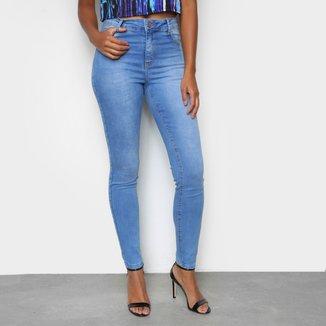 Calça Jeans Skinny TKS Estonada Cintura Média Feminina