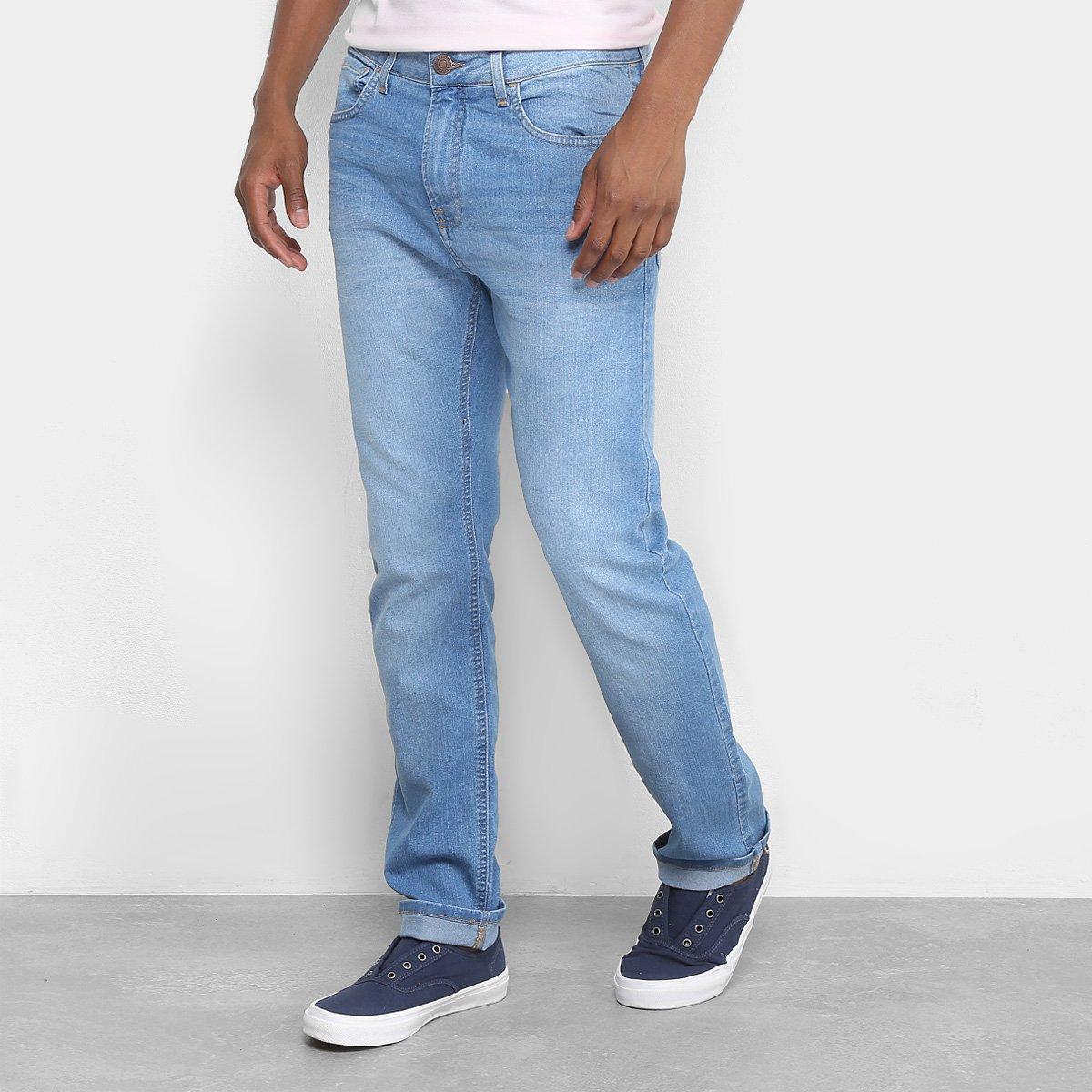 0dd86dc11016d Calça Jeans Slim Calvin Klein Estonada Masculina - Azul Claro - Compre Agora