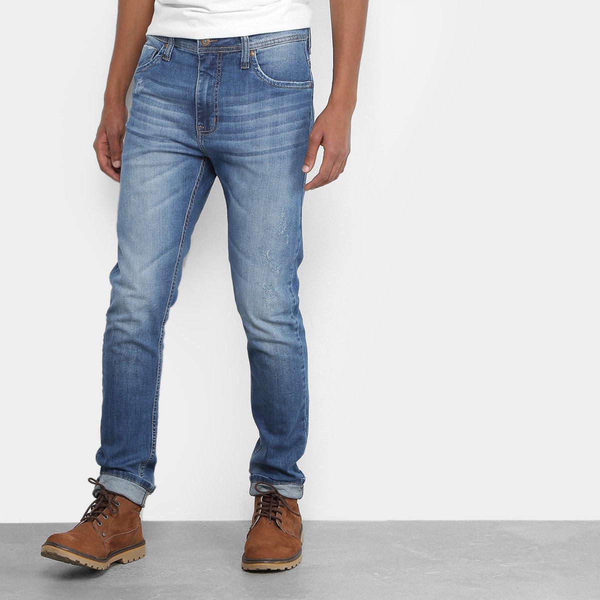 18800ee4c Calça Jeans Slim Colcci Felipe Estonada Puídos Cintura Média Masculina - Compre  Agora | Zattini