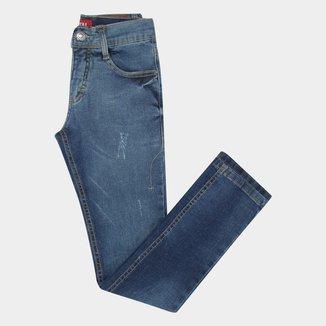 Calça Jeans Slim Juvenil Fatal Conf Masculina